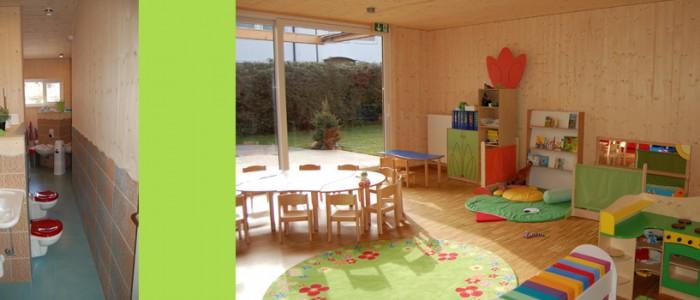 Kinderkrippe, Unterhaching, Bad und Gruppenraum Teichhüpfer