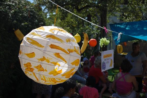 Die Kinder haben die Deko für das Sommerfest 2014 gestaltet.